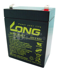 Batería 12 Voltios 2,9 Amperios Long WP2.9-12