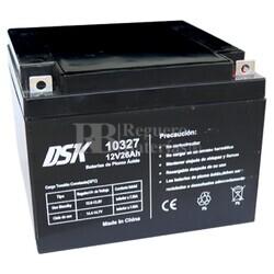 Batería AGM 12 Voltios 26 Amperios DSK