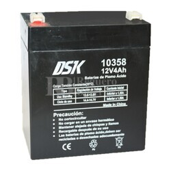 Batería AGM 12 Voltios 4 Amperios DSK