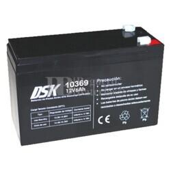 Batería AGM 12 Voltios 6 Amperios Alta Descarga DSK