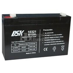 Batería AGM 6 Voltios 12 Amperios DSK