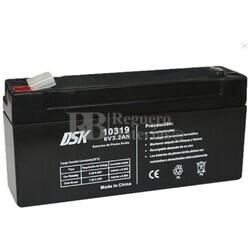 Batería AGM 6 Voltios 3,2 Amperios DSK