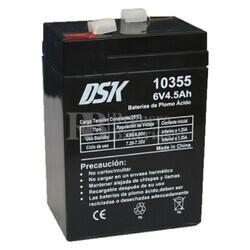 Batería AGM 6 Voltios 4,5 Amperios DSK