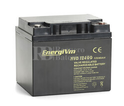 Bateria AGM Ciclica de Alta Descarga Energivm en 12 Voltios 40 Amperios 197x165x170 mm