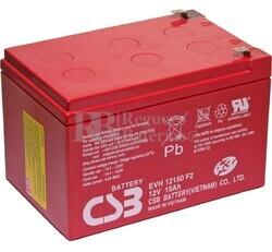 Batería AGM Cíclica para Silla de Ruedas Eléctrica en 12 Voltios 15 Amperios EVH12150