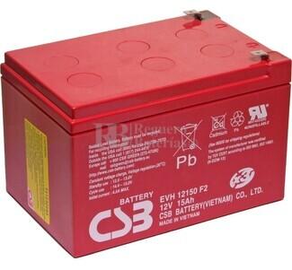 Batería para Silla de Ruedas en 12 Voltios 15 Amperios EVH12150