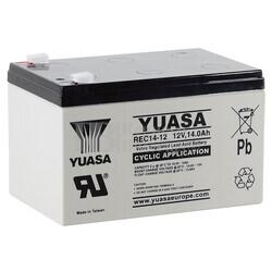Batería 12 Voltios 14 Amperios Yuasa REC14-12 para aplicaciones cíclicas