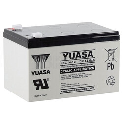 Bater�a 12 Voltios 14 Amperios Yuasa REC14-12 para aplicaciones c�clicas