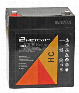 Bateria Agm HEYCAR HC12-5  12 Voltios 5 Amperios 90x70x101mm