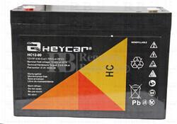 Bateria Agm HEYCAR HC12-90 12 Voltios 90 Amperios  306,5x168,5x235mm