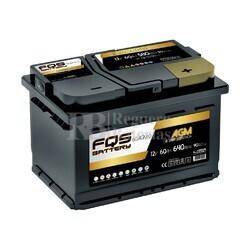 Batería Arranque 12 Voltios 60 Amperios Start-Stop AGM FQS60AGM.0