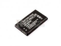 Batería B2700, para telefonos Samsung, Li-ion, 3,7V, 1050mAh, 3,9Wh