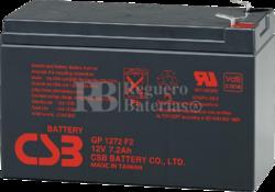 Batería 12 Voltios 7,2 Amperios para Bicicletas Eléctricas GP1272F2