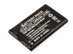Bateria  5800 XpressMusic, para telefonos Nokia,  Li-ion, 3,7V, 1380mAh, 5,1Wh