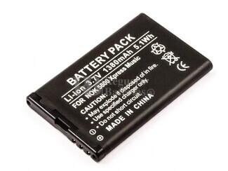 Batería BL-5J para teléfonos Nokia 5800 XpressMusic, Lumia 520,