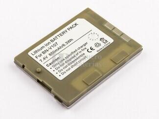 Bateria BN-V107, Li-ion, para camaras JVC, 7,4V, 850mAh, 6,3Wh, silver