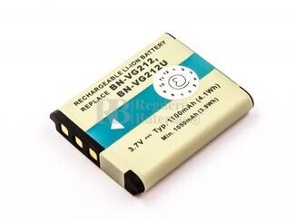 Bateria BN-VG212, para camaras JVC, Li-ion, 3,7V, 1100mAh, 4,1Wh