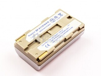Bateria BP-911, para camaras Canon, Li-ion, 7,2V, 2200mAh, 15,8Wh, silver