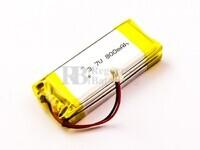 Batería Cardo Scala Rider Intercom, Li-Polymer, 3,7V, 800mAh, 3,0Wh para Auriculares