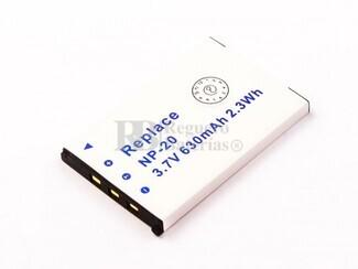 Batería NP-20 para cámara Casio EXILIM ZOOM EX-Z60SR