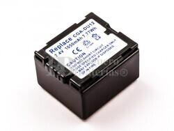 Bateria CGA-DU12, Li-ion, 7,4V, 1050mAh, 7,8Wh para camaras Panasonic
