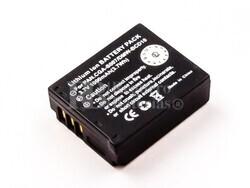 Batería CGA-S007E para camaras Panasonic CGA-S007, DMW-BCD10, Li-ion, 3,7V, 1000mAh, 3,7Wh