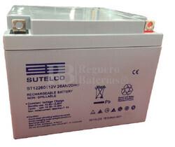Batería Ciclica de AGM 12 Voltios 26 Amperios 166 x 175 x 125 mm ST12260