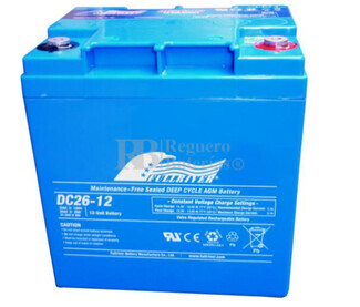 Bateria Ciclica de Alta Descarga FULLRIVER 12 Voltios 26 Amperios DC26-12