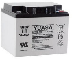 Batería 12 Voltios 50 Amperios Yuasa REC50-12 para aplicaciones cíclicas