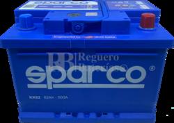 Batería Coche 12 Voltios 62 Amperios Sparco KK62
