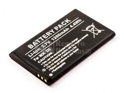 Bateria  225, para telefonos Nokia Li-ion, 3,7V, 1200mAh, 4,4Wh