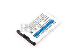 Bateria 5800 XpressMusic, para telefonos Nokia Li-ion, 3,7V, 900mAh, 3,3Wh