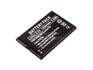 Bateria  603, Lumia 710, para telefonos Nokia, Li-ion, 3,7V, 1350mAh, 5,0Wh