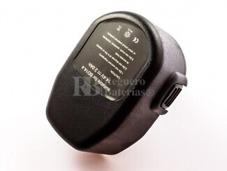Bateria compatible  CD14CB, para maquinas black & decker  Ni-Cd, 14,4V, 2000mAh, 28,8Wh, black