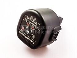 Bateria compatible  CD231K, para black & decker  NiMH, 9,6V, 3000mAh, 28,8Wh, black