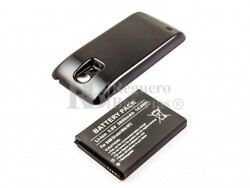 Bateria de larga duracion, Galaxy S4 Mini, para telefonos SAMSUNG, Li-ion, 3,8V, 3800mAh, 14,4Wh, with NFC, Tapa color negro
