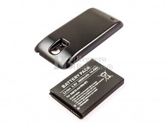Batería de larga duracion, Galaxy S4 Mini, para telefonos SAMSUNG, Li-ion, 3,8V, 3800mAh, 14,4Wh, with NFC, Tapa color negro