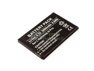Bateria G Pro, para telefonos LG Optimus Li-ion, 3,7V, 2600mAh, 9,6Wh