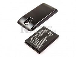 Bateria compatible Galaxy S4 Mini, para telefonos SAMSUNG, Li-ion, 3,8V, 3800mAh, 14,4Wh, con tapa color NEGRO