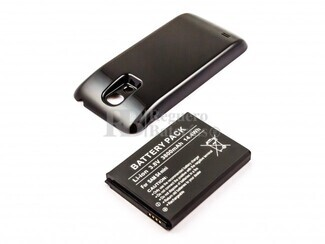 Batería compatible Galaxy S4 Mini, para telefonos SAMSUNG, Li-ion, 3,8V, 3800mAh, 14,4Wh, con tapa color Negro