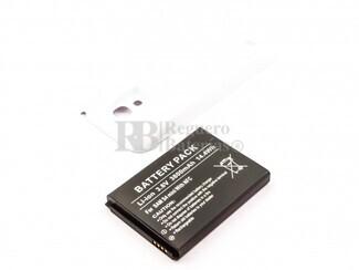 Bateria para Galaxy S4 Mini, para telefonos SAMSUNG, Li-ion, 3,8V, 3800mAh, 14,4Wh, with NFC, Tapa color blanca