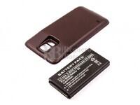 Batería para Galaxy S5, Li-ion, 3,85V, para telefonos SAMSUNG, 5600mAh, 21,6Wh, Tapa color Negro