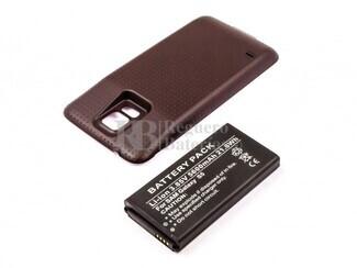 Bateria para Galaxy S5, Li-ion, 3,85V, para telefonos SAMSUNG, 5600mAh, 21,6Wh, Tapa color Negro, without IP67 protection