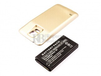 Bateria para Galaxy S5, para telefonos SAMSUMG, Li-ion, 3,85V, 5600mAh, 21,6Wh, Tapa color Dorado, without IP67 protection