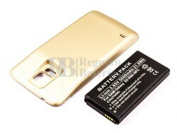 Bateria para Galaxy S5, para telefonos SAMSUNG, Li-ion, 3,85V, 5600mAh, 21,6Wh, with NFC, Tapa color Dorado, without IP67 protection
