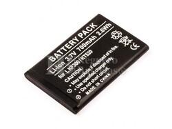 Bateria KF300, KT520, para telefonos LG, Li-ion, 3,7V, 700mAh, 2,6Wh