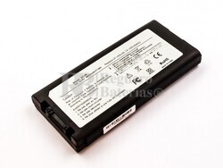 Batería compatible PANASONIC ToughBook CF29, Li-ion, 10,8V, 6600mAh, 71,3Wh Negro