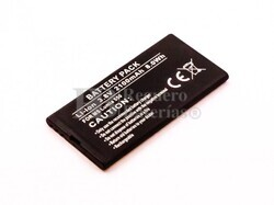 Batería compatible para Lumia 550, Li-ion, 3,8V, 2100mAh, 8,0Wh