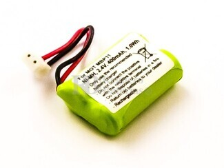 Bateria compatible para Motorola Baby Phone MBP11, NiMH, 2,4V, 400mAh, 1,0Wh