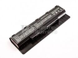 Batería compatible para ordenador Asus N56 series, Li-ion, 11,1V, 5200mAh, 57,7Wh, Negro
